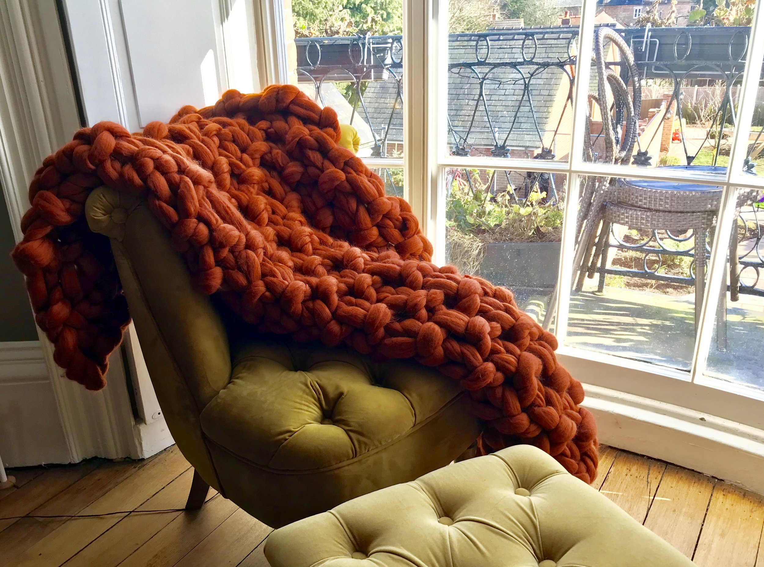 The Cordova Throw  - 100% Merino WoolColour: RustSize: Approx 34