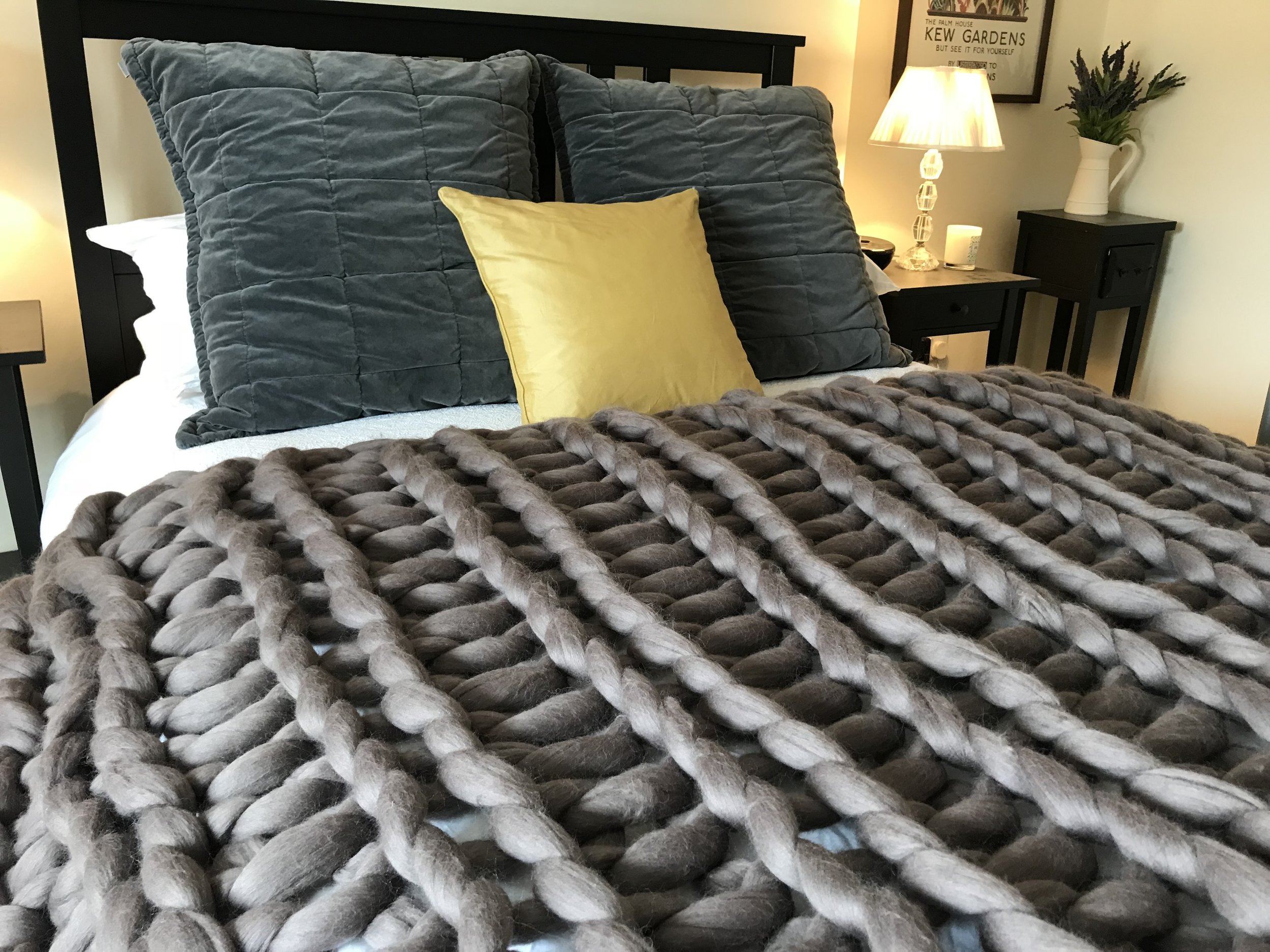 The Borden Blanket In Pewter - Colour: PewterLength: Approx. 60