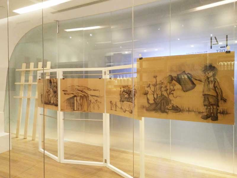 Original Artworks showcased at Orchard Library window display