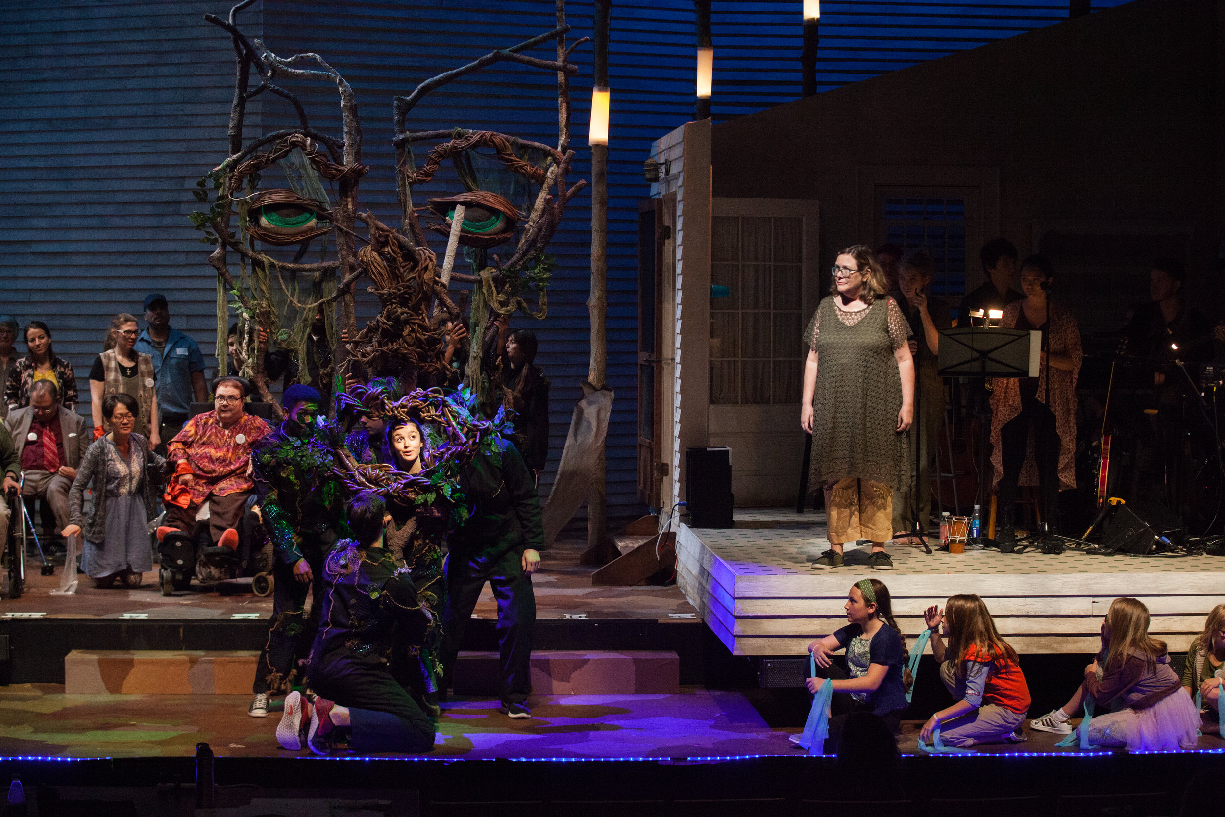 Taiga in the Berkshires  by By Lucy Thurber, Directed by Lee Overtree, Scenic Design by Henry Blazer, Puppet by Lindsay Mummert and Jenn Bobo Lighting Design by Eric Haufschild