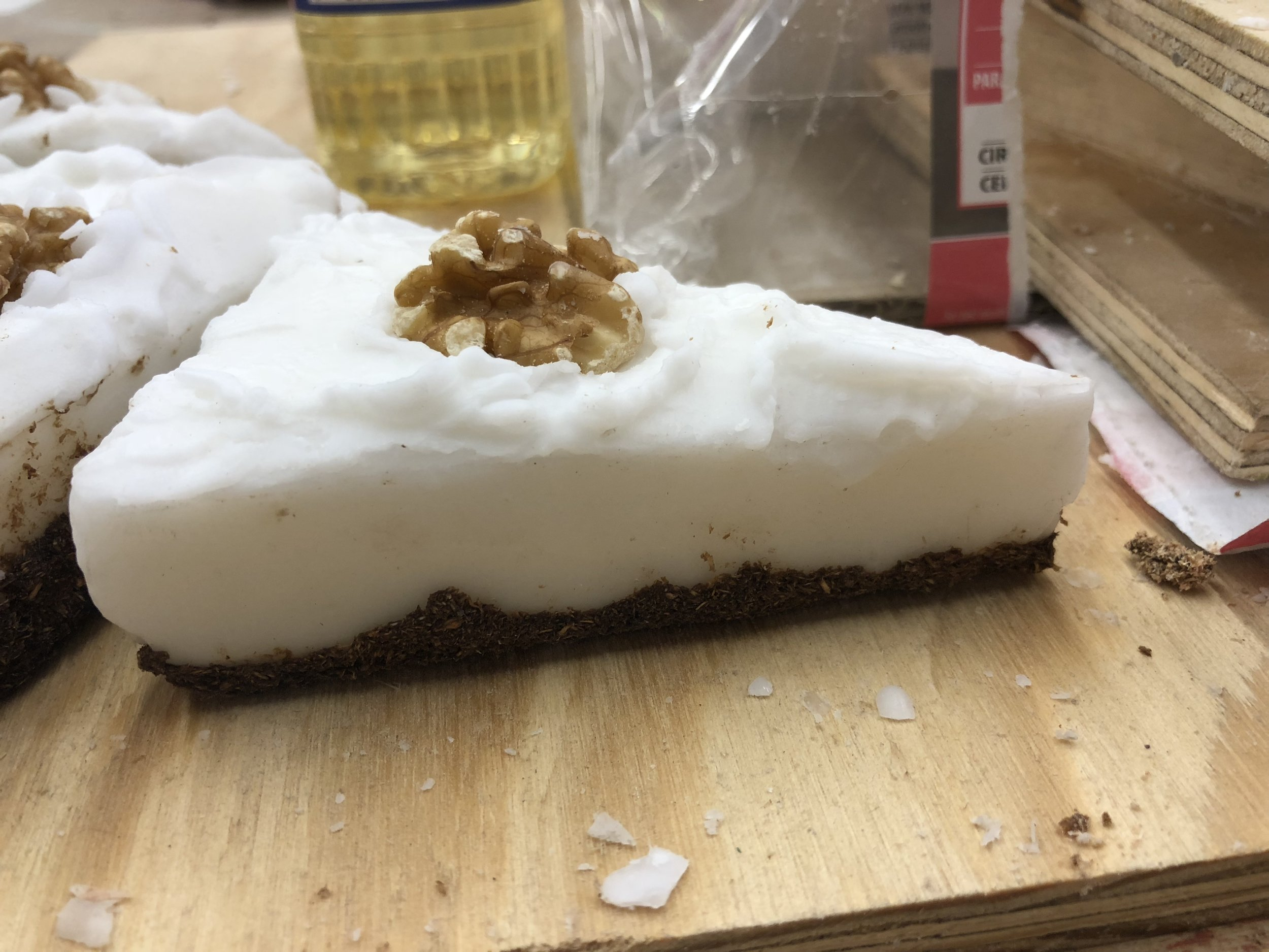 Slice of Chessecake with Sawdust Crust