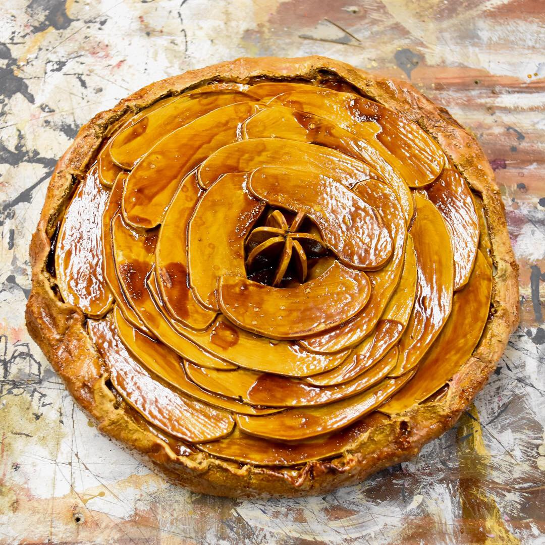 Painted Apple Tart