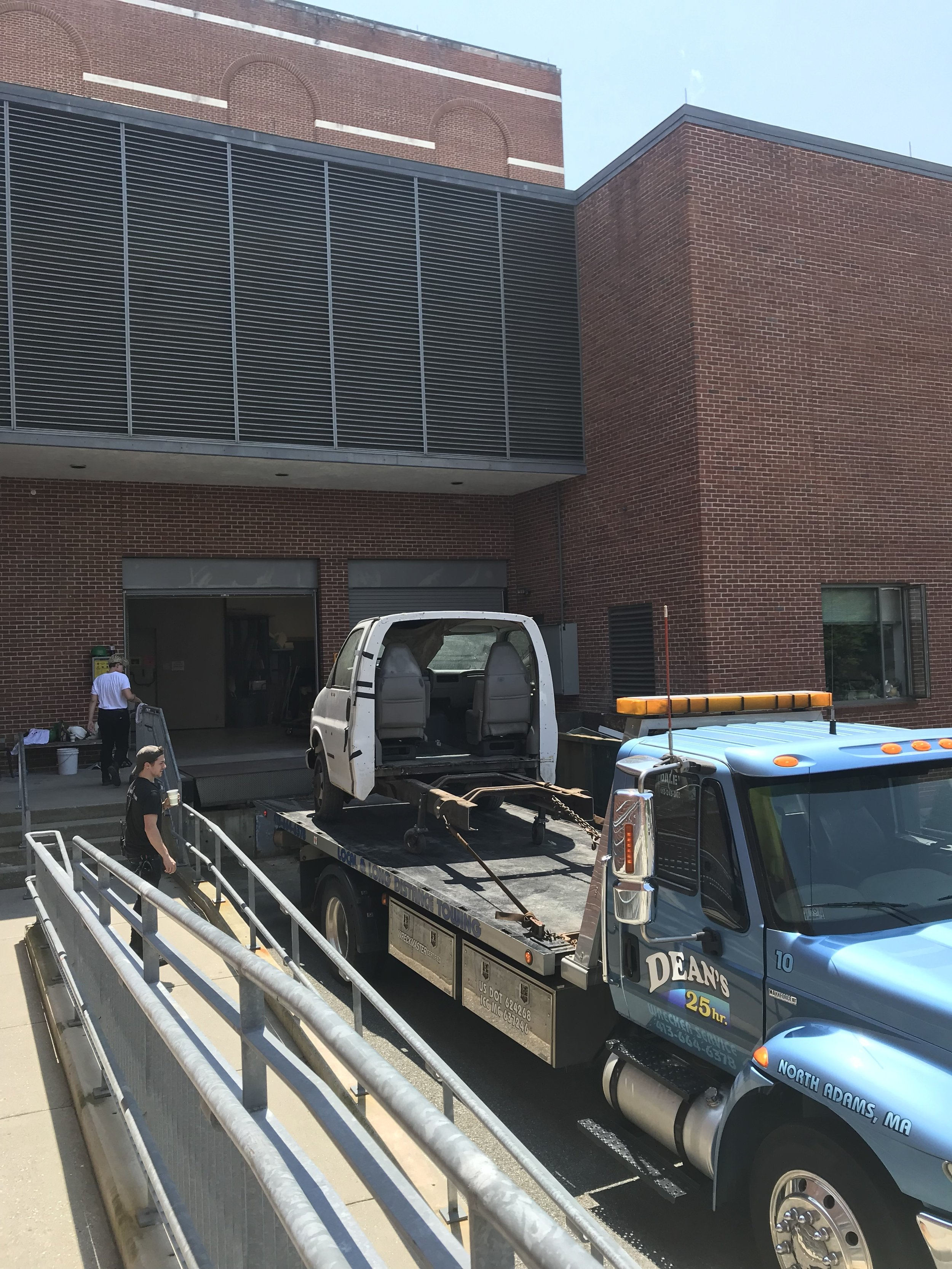 Tow Truck Delivers the Cab to '62 Center