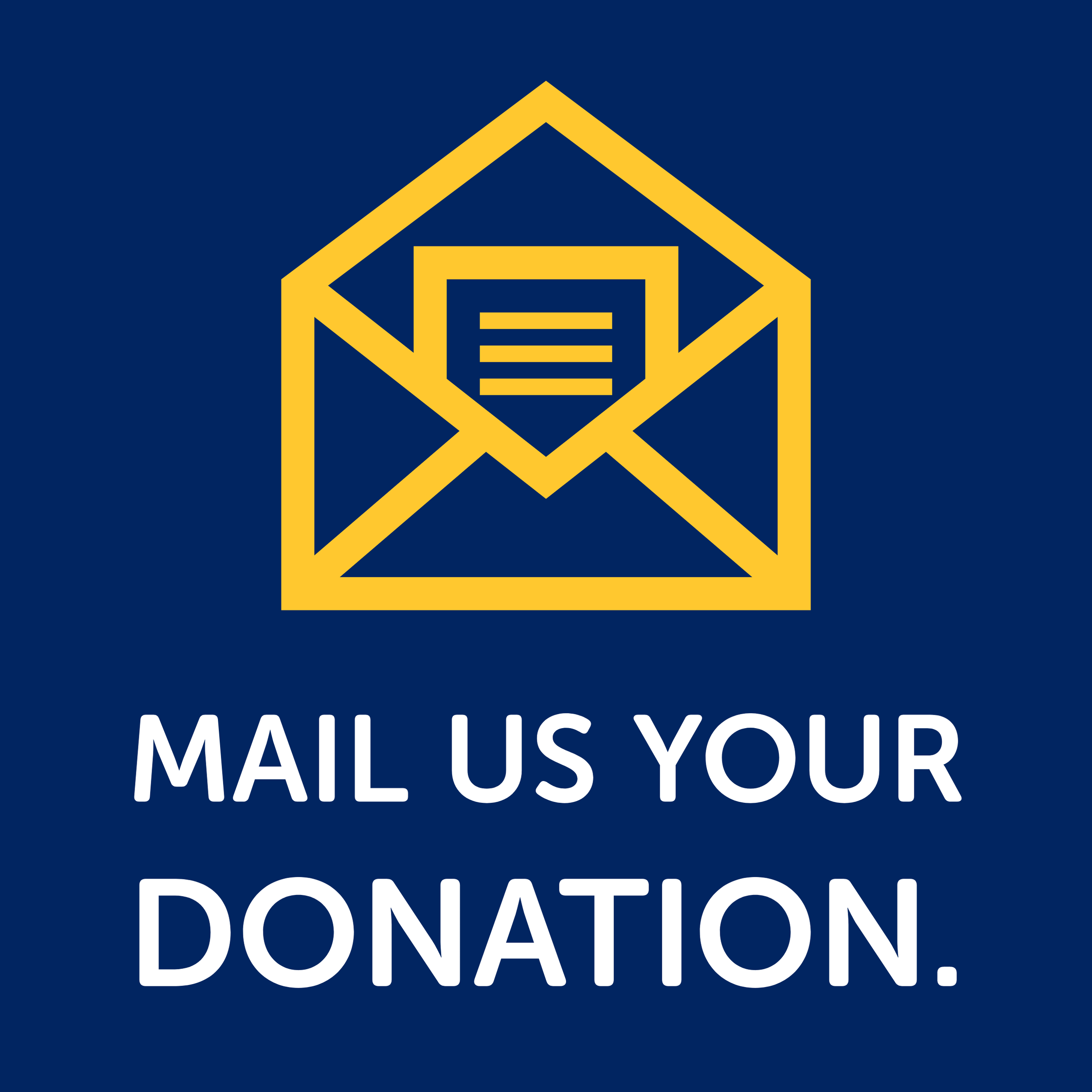 Mail us your donation.