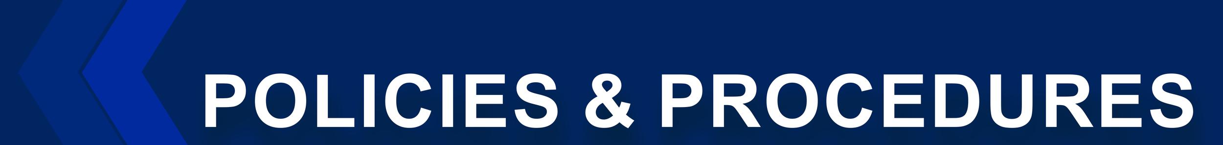 Policies and Procedures header banner