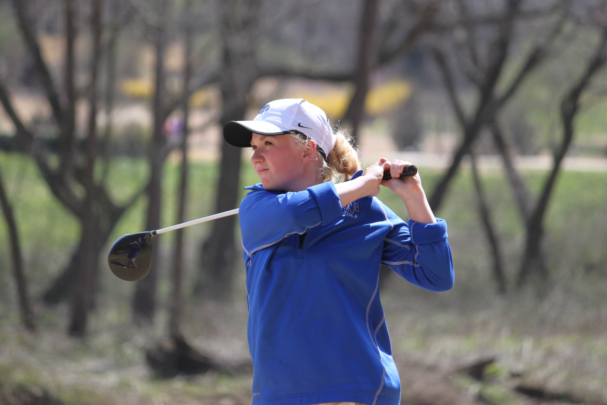 LeeAnn Noble plays a game of golf. After passing away friends and family created a scholarship in her name to support student-athletes.