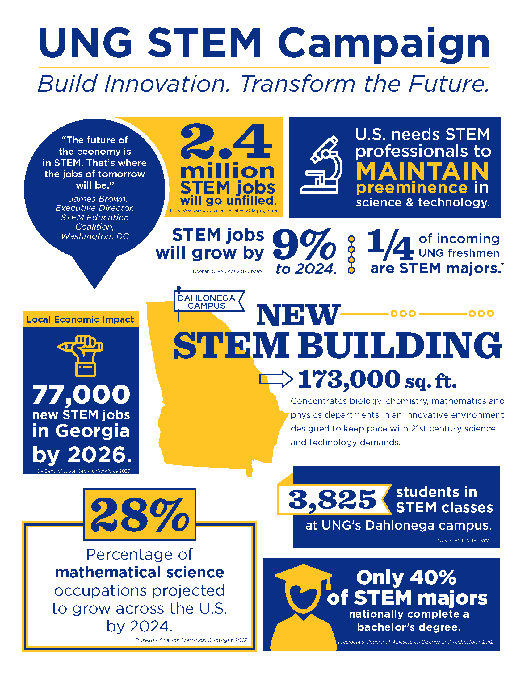 UNG STEM Campaign Infographic