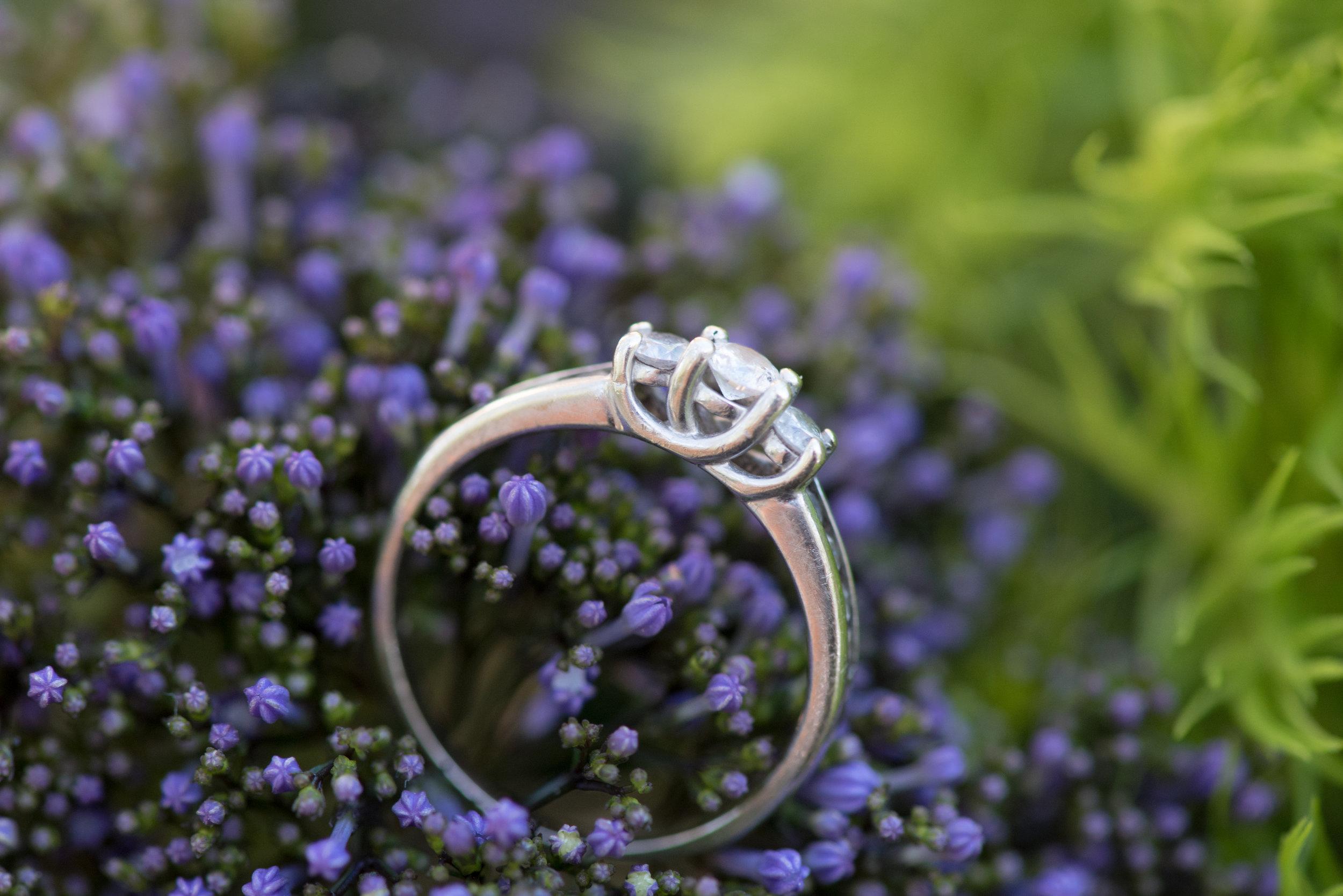 Cara + Chris wedding ring