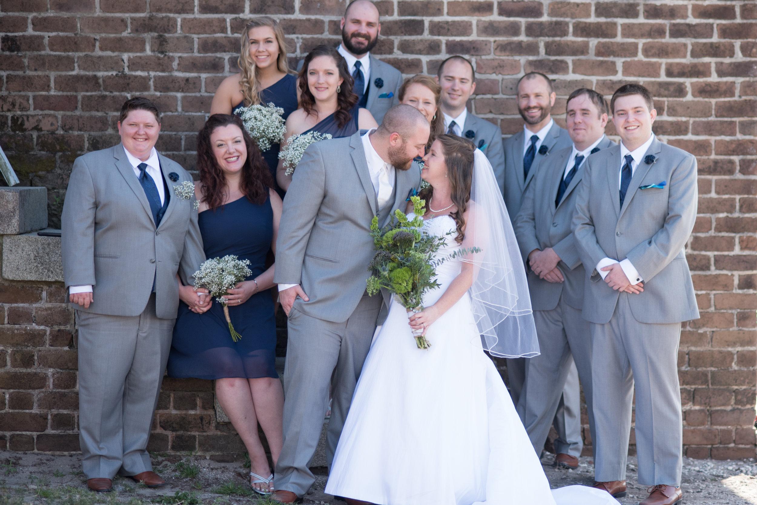 Cara + Chris wedding party