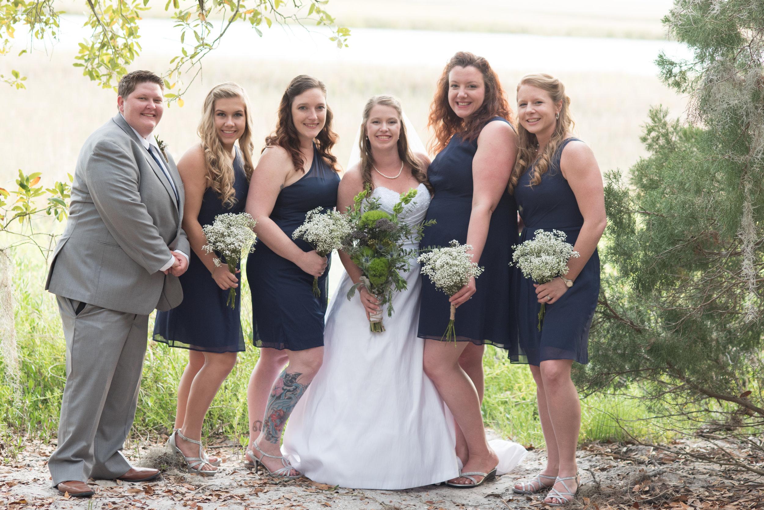 CAra & Chris bridal party photo