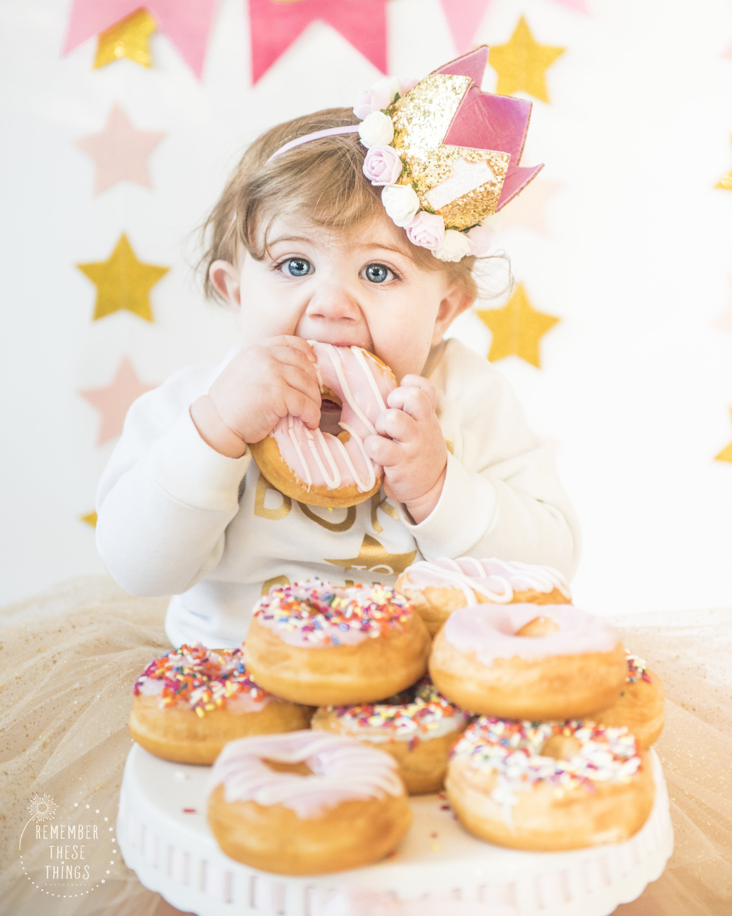 One year old doughnut smash instead of a normal cake smash! It was perfect!