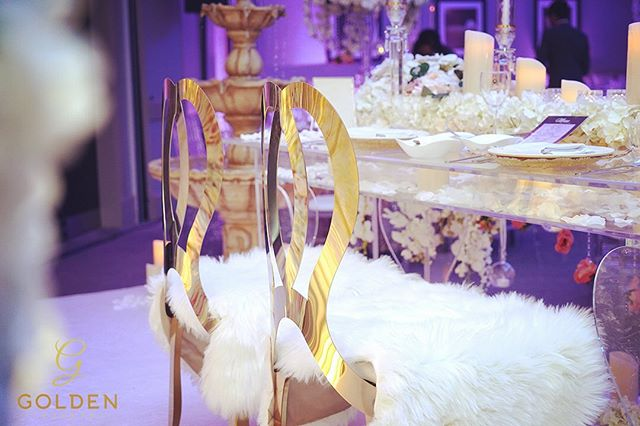 How cute do these fur seat covers look on our beautiful infinity chairs.  Luxury Marquees | Bespoke Event Decor  M : 077 020 63 290 | ‭077 435 04 209‬ E : info@goldenevent.co.uk W: www.goldenevent.co.uk #goldenevents  #love  #likeforlikes  #designer  #luxury  #followforfollowback  #follow4followback  #asianwedding  #indianwedding  #englishwedding #idea #weddingidea  #details  #settings #decoration  #flowers  #floral  #roses  #familytables  #asianweddings  #beautiful  #photooftheday  #picoftheday  #follow #style  #amazing  #instapic #inspiration #birmingham  #weddingreception