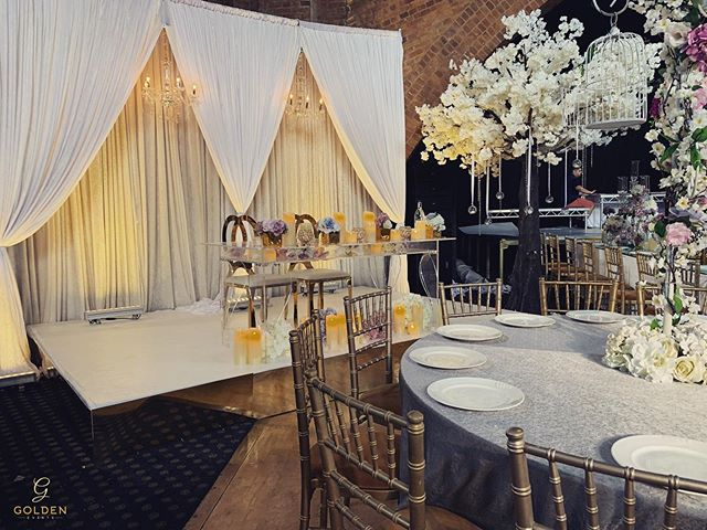 From the extensive range of backdrops, we have to say this pinch draped setting is one of this years most popular chosen ranges 😍 Luxury Marquees | Bespoke Event Decor  M : 077 020 63 290 T :  0121 312 5333 E : info@goldenevent.co.uk W: www.goldenevent.co.uk #goldenevents  #love  #likeforlikes  #designer  #luxury  #followforfollowback  #follow4followback  #asianwedding  #indianwedding  #englishwedding #idea #weddingidea  #details  #settings #decoration  #flowers  #floral  #roses  #familytables  #asianweddings  #beautiful  #photooftheday  #picoftheday  #follow #style  #amazing  #instapic #inspiration #birmingham  #weddingreception