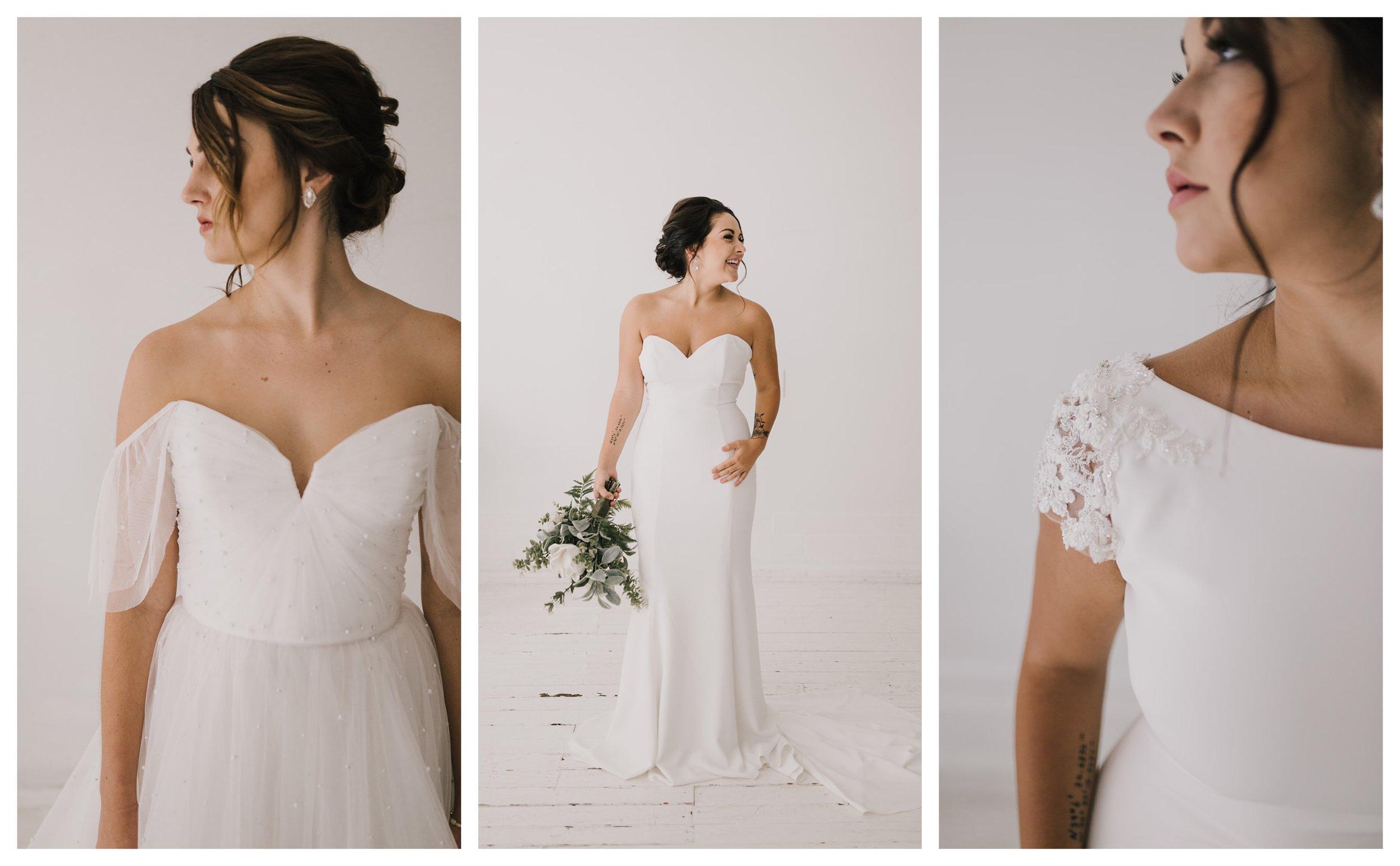 Photography:  Alyssa Barletter Photography  // Gowns: Nouvelle Amsale,  Casablanca Bridal ,  La Sposa