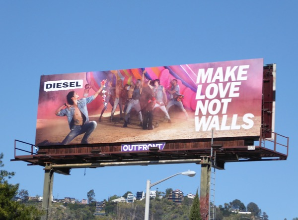 Diesel Make love not walls billboard.jpg