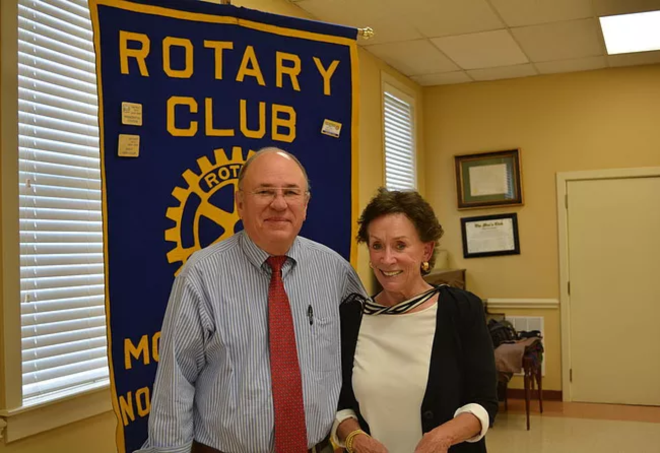 Barbara Cornwell Norvell, 2015 Distinguished Person of the Year, with fellow Rotarian