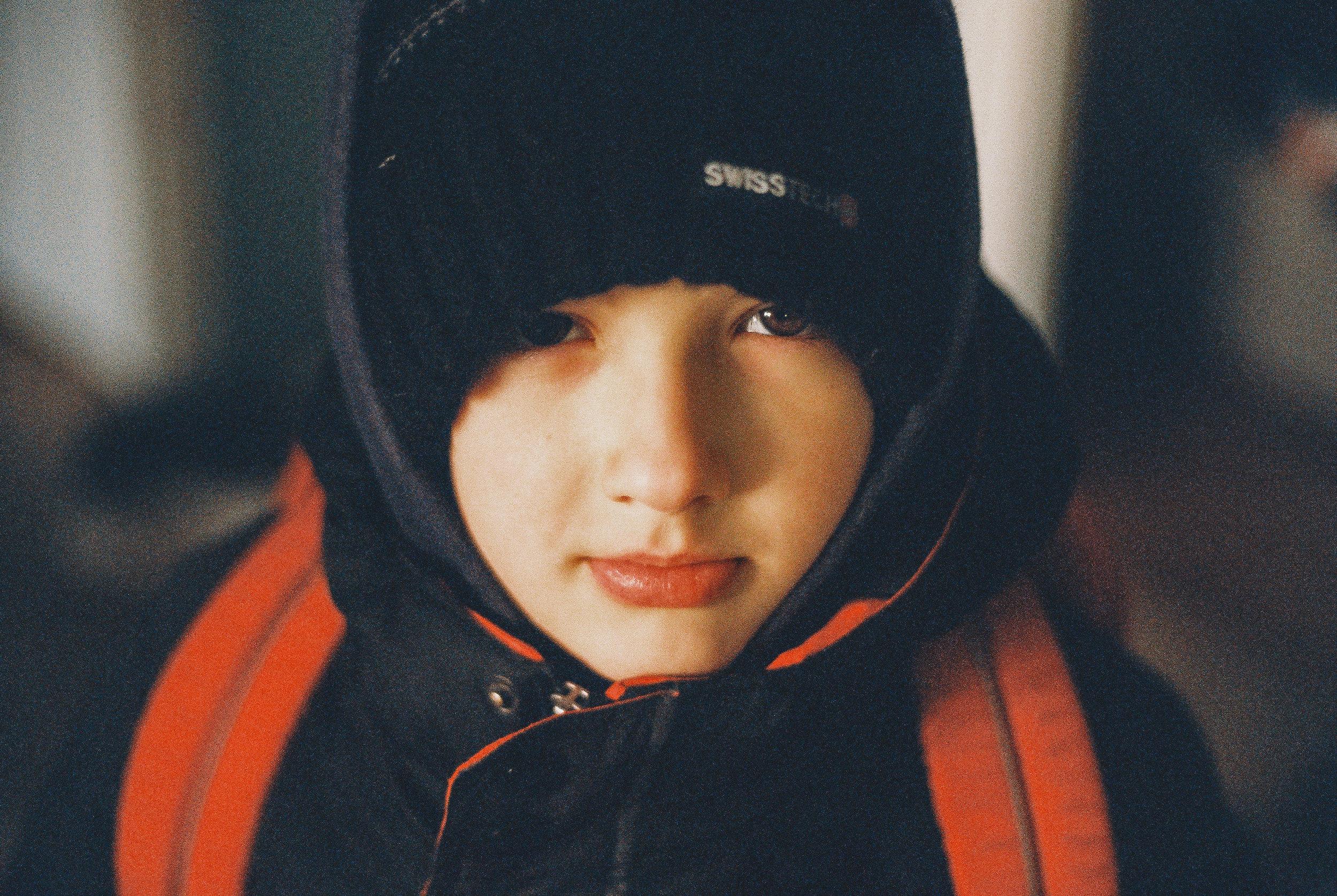 Boy in snow jacket
