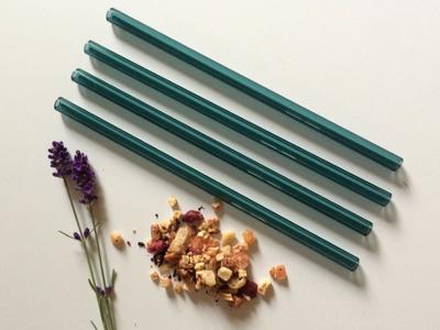 Lake Green Reusable Canadian Glass Straws - Brook Drabot Glass - Manitoba