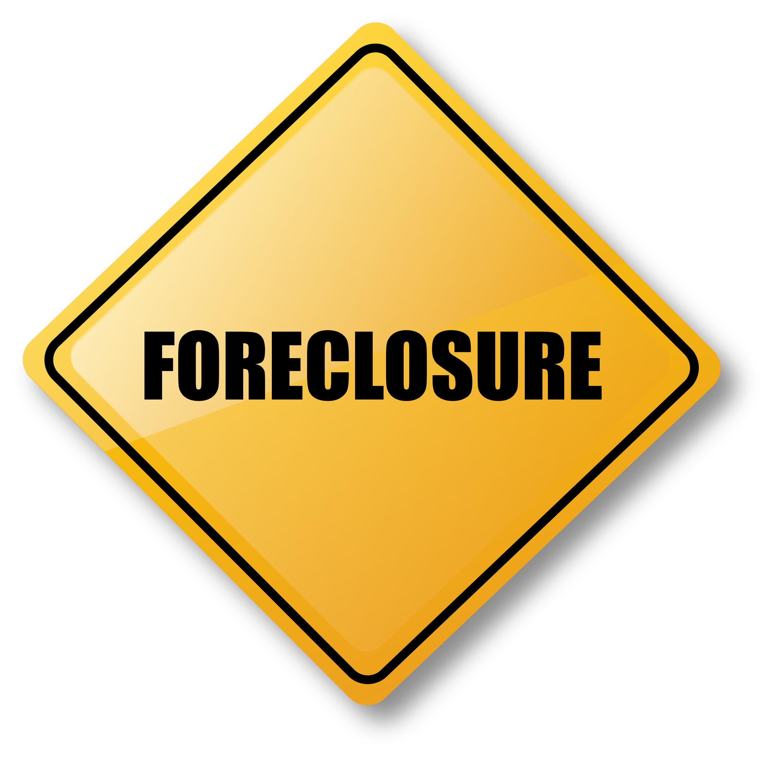 Foreclosure Caution Sign