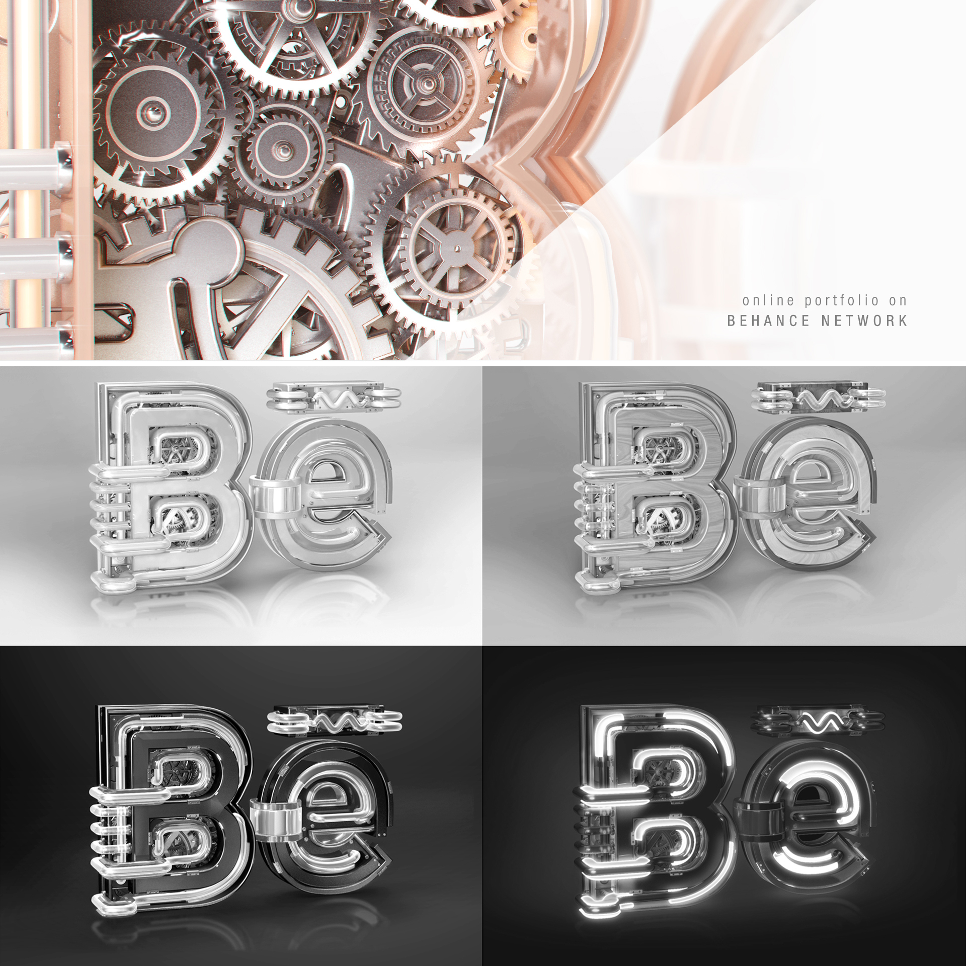 Behance Network   Key visuals illustrate the BE for Behance.