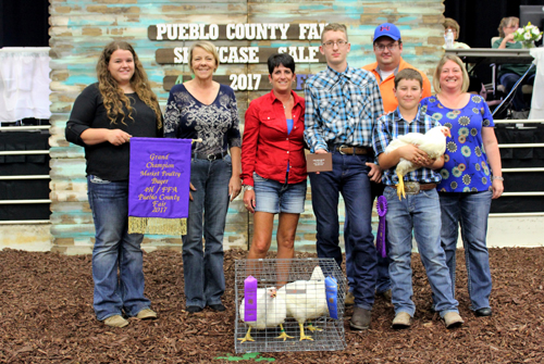 Grand Champion Market Poultry  Buyer: Pueblo Bank & Trust Price: $1,250.00 Seller: Jace Martellaro