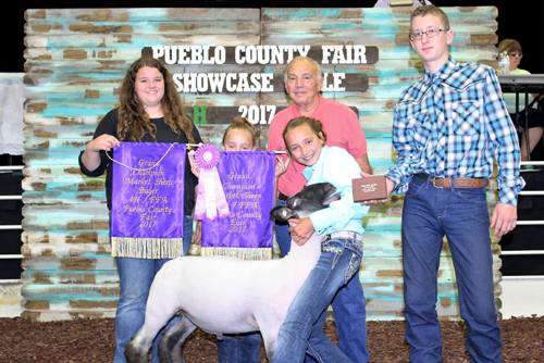 Grand Champion Market Sheep  Buyer: Mesa Pharmacy Price: $7,250.00 Seller: Breanne Farris