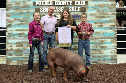 Reserve Grand Champion Market Swine  Buyer: Pueblo Toyota/Pueblo Dodge Chrysler Jeep Ram Price: $3,750.00 Seller: Zoey Stupnik