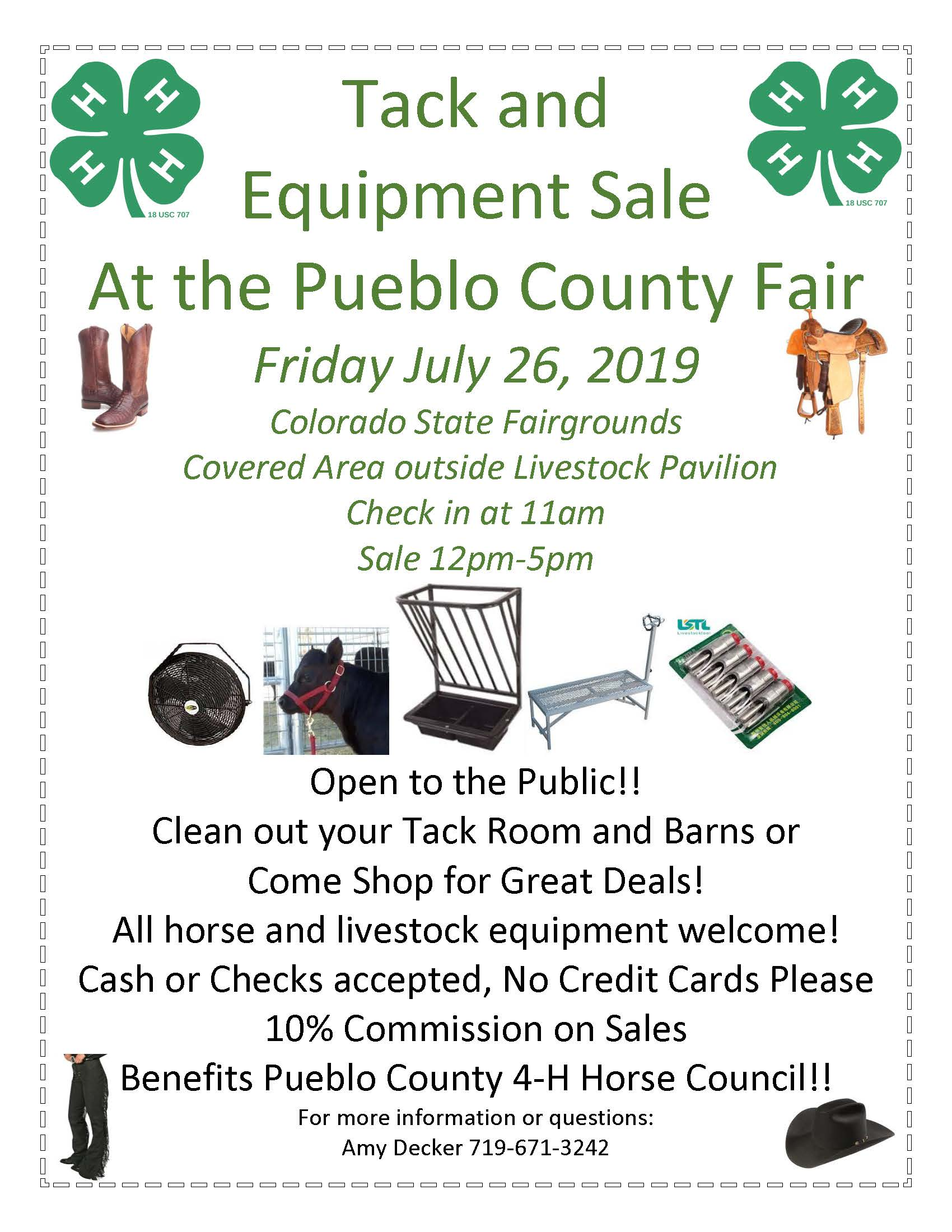 2019 County Fair 4-H Tack and Clothing Sale.jpg