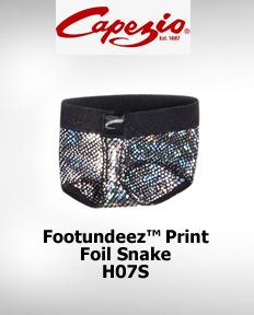 Capezio FootUndeez™ Foil Snake