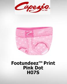 Capezio FootUndeez™ Pink Dot