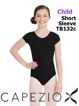 Capezio Short Sleeve Leo TB132C