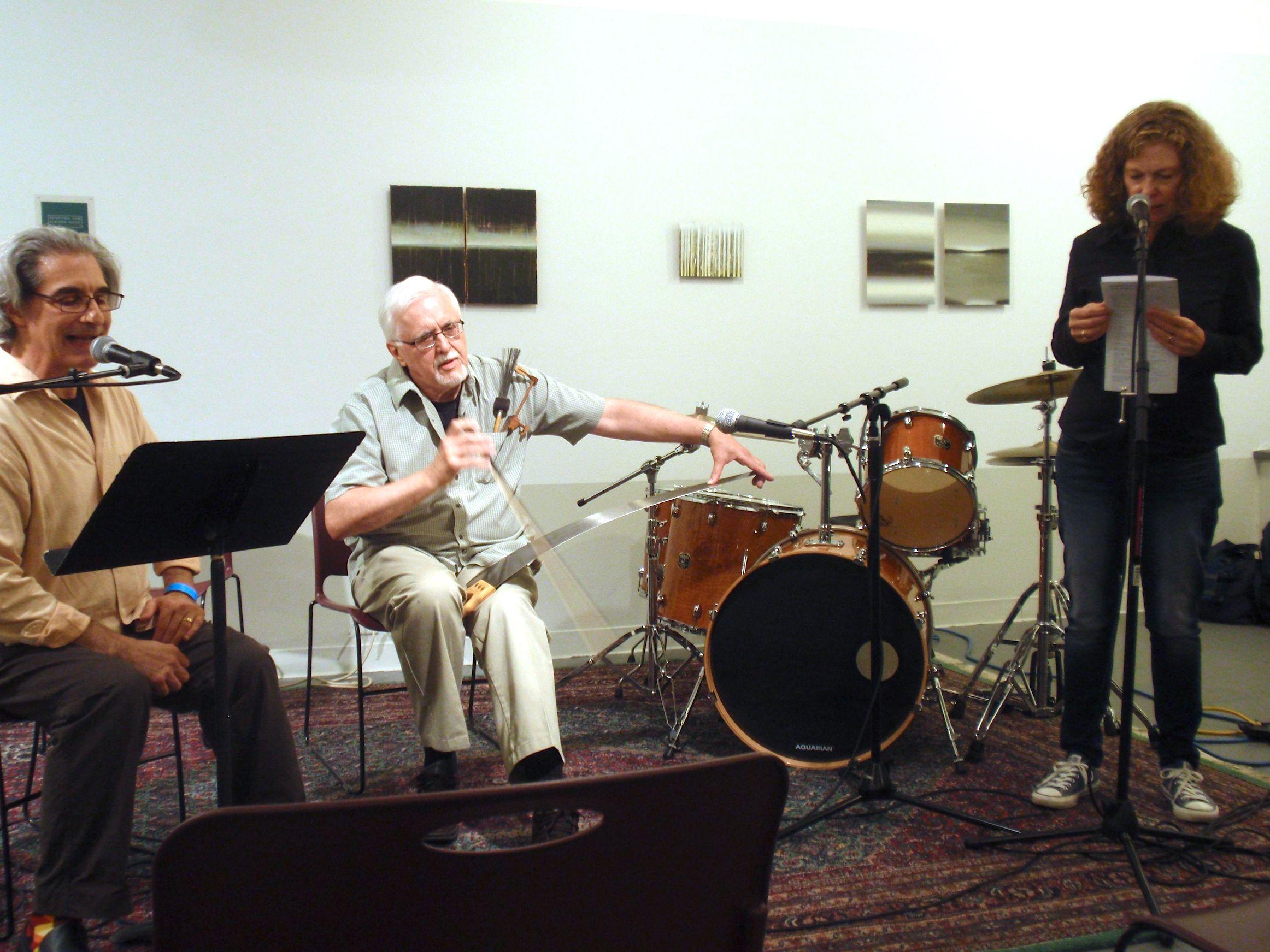 Trio performance with Sandra Binion and Lou Mallozzi, 2012