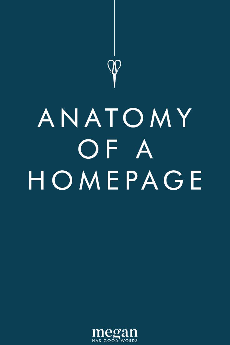 Anatomy of a Homepage   ©2019 Megan Dowd