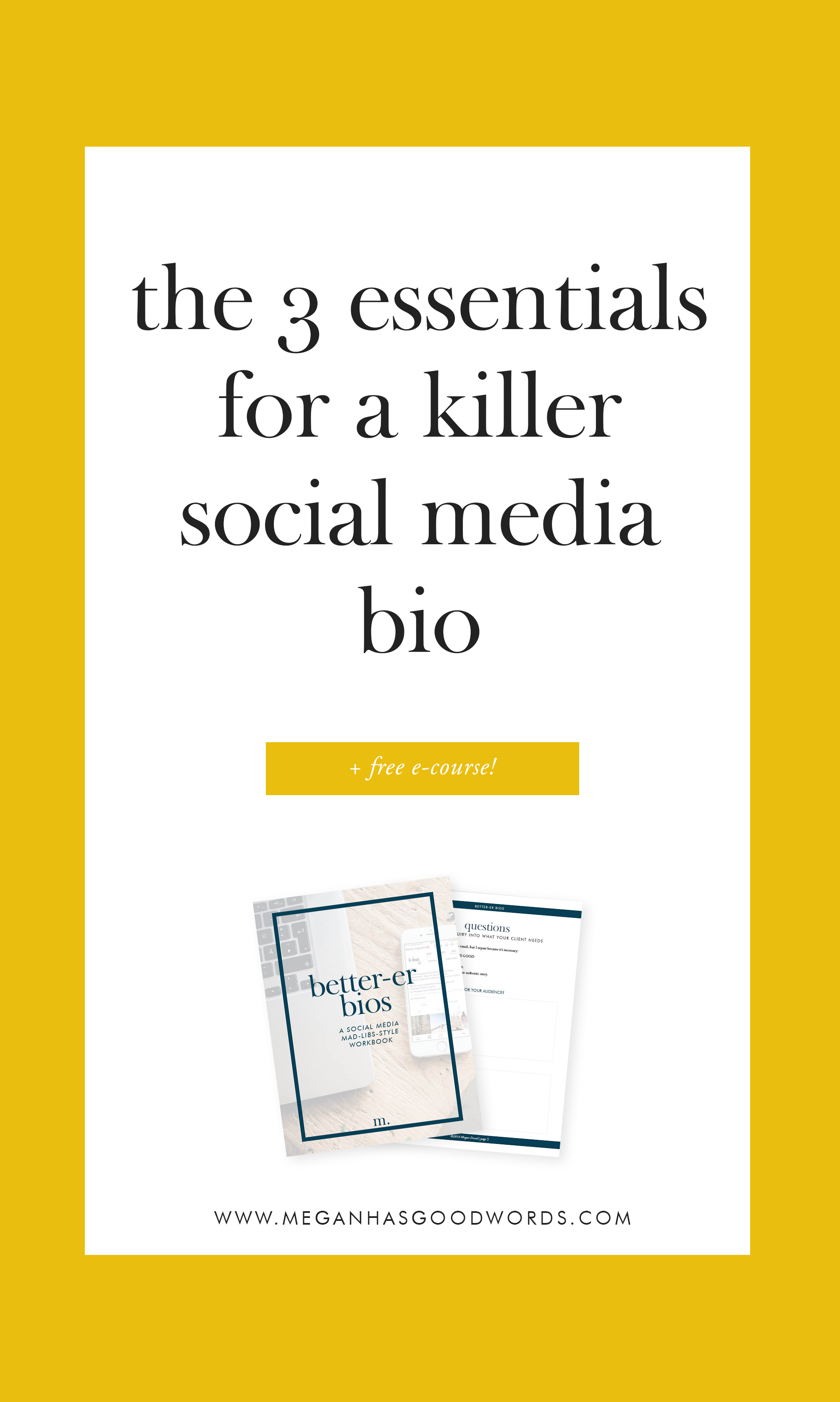 Essentials of a Social Media Bio | ©2019 Megan Dowd