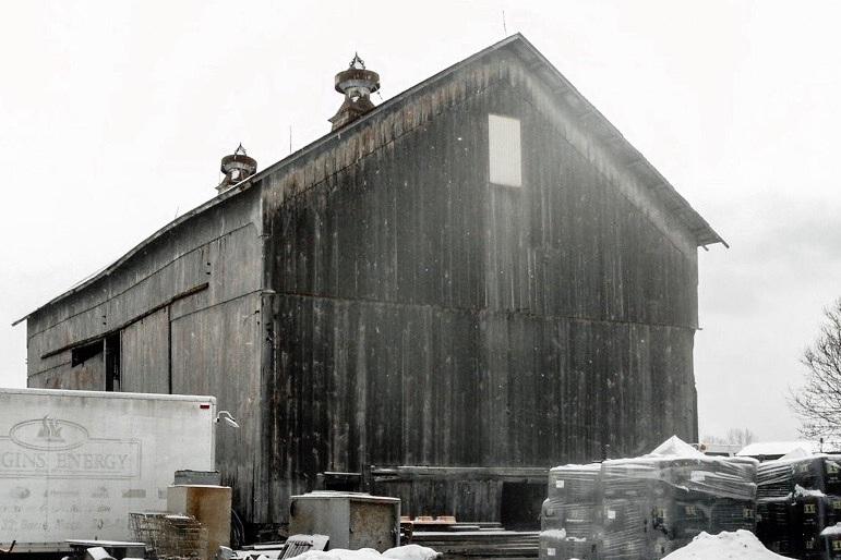 The 19th-century barn before renovation….