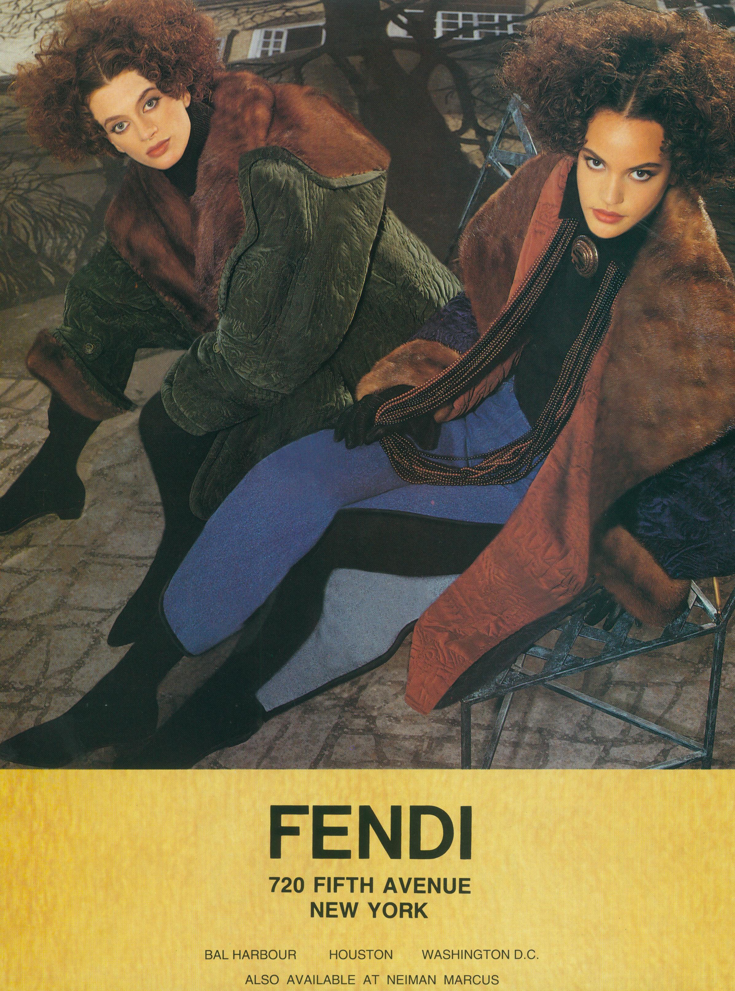 Fendi Campaign, Karl Lagerfeld