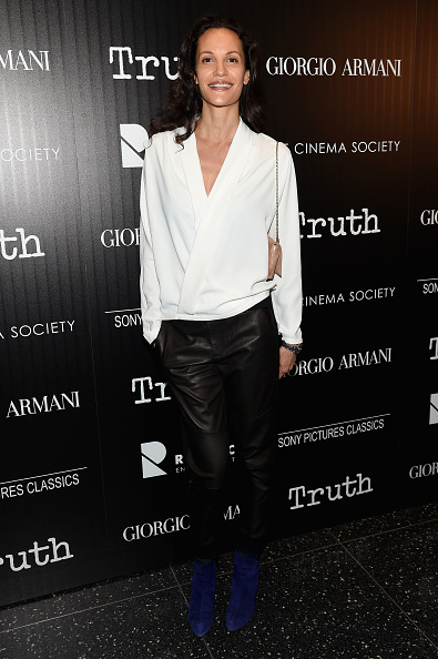 """NEW YORK, NY - OCTOBER 07: Model Claudia Mason attends the Giorgio Armani and Cinema Society screening of Sony Pictures Classics' """"Truth"""" at Museum of Modern Art on October 7, 2015 in New York City. (Photo by Jamie McCarthy/WireImage)"""