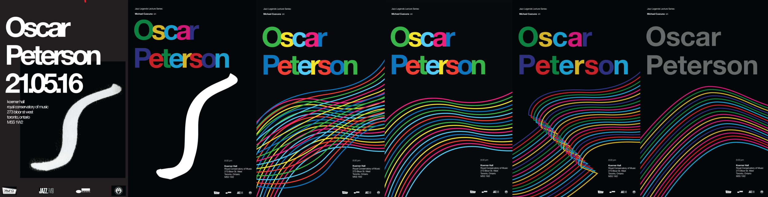 The evolution of the poster from its first digital mockup