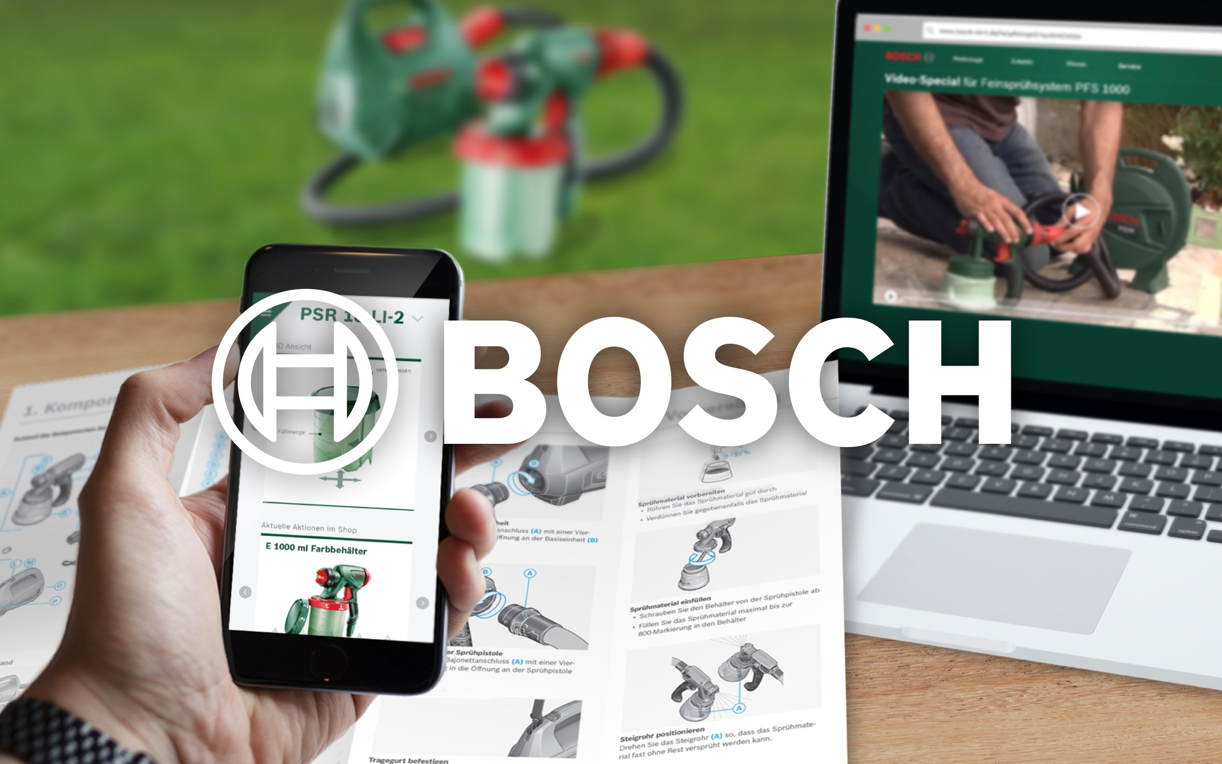 Future of Manuals — multi channel service innovation across the whole product range B2B and B2C  2015 | BOSCH & Bosch Siemens Home Appliances | 6 months runtime