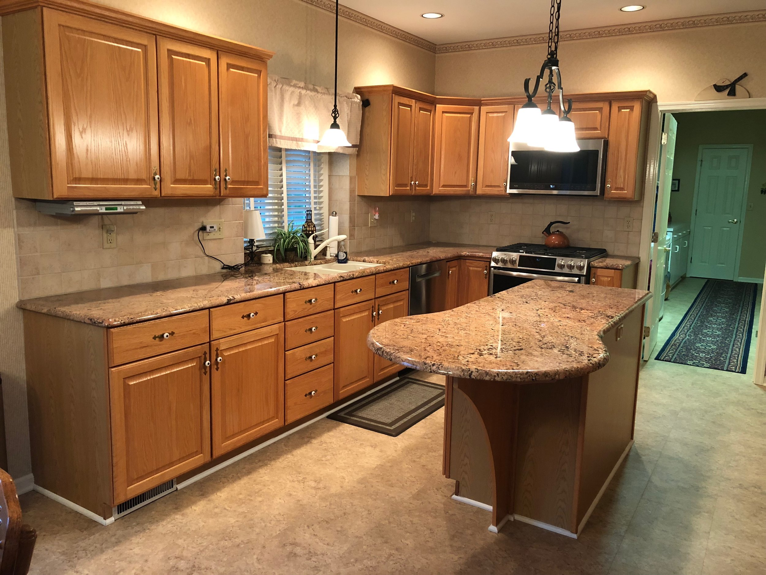 Before - Professional Kitchen cabinet painting in Harrisburg Pa