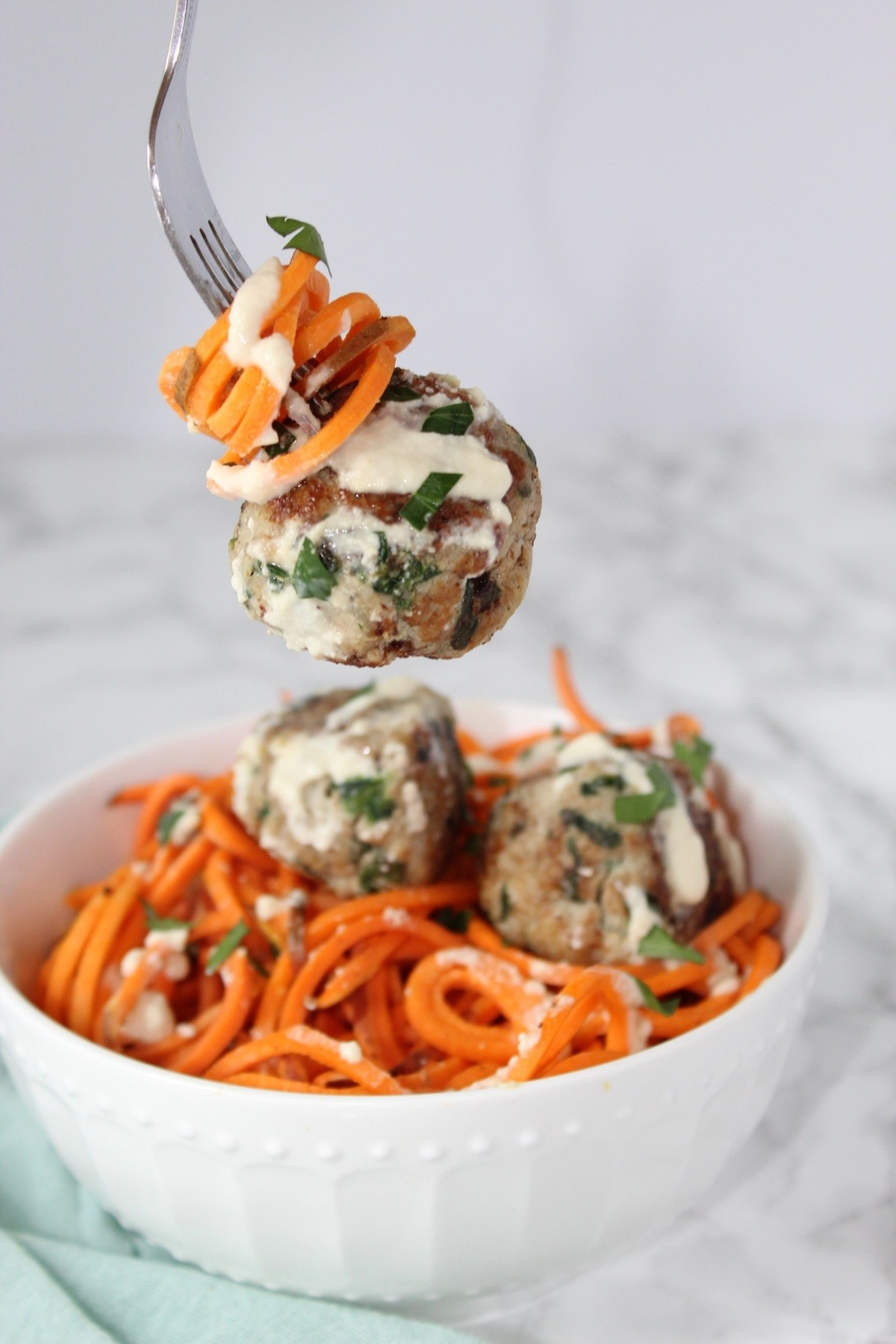 Spinach & Artichoke Chicken Meatballs