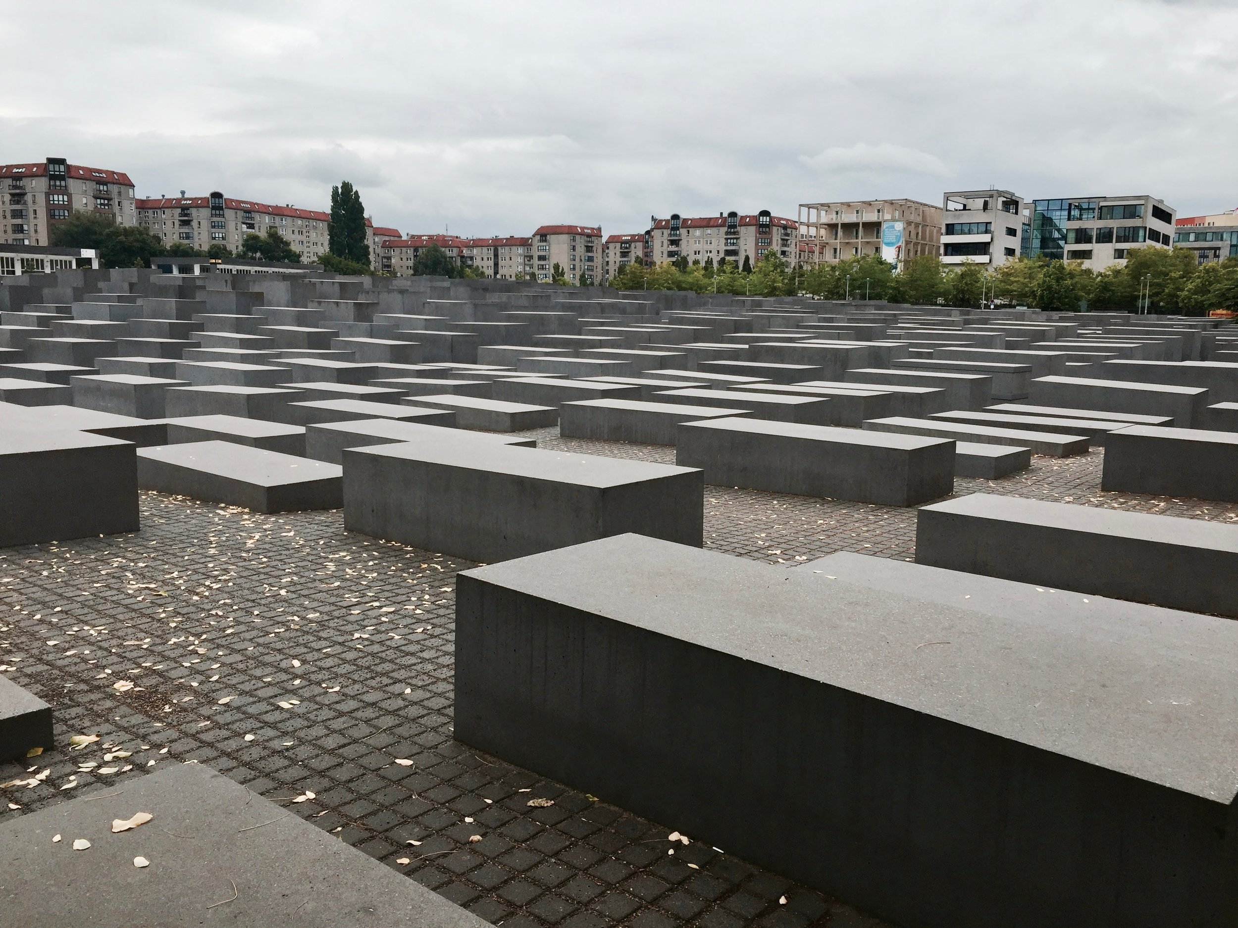 Memorial to the murdered jews - out of respect, do not run through the memorial