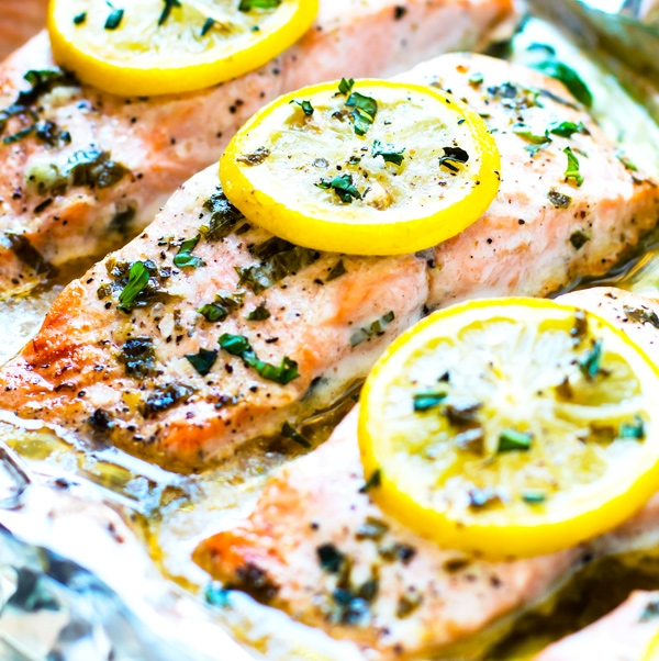 Basil & Lemon Salmon - Use ghee instead of butter
