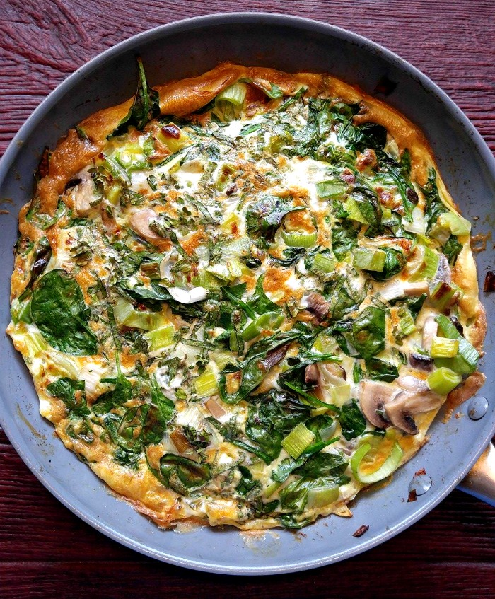Spinach Frittata - Recipe by: The gardening cookTry to avoid having eggs the morning of this meal as to avoid food boredom!