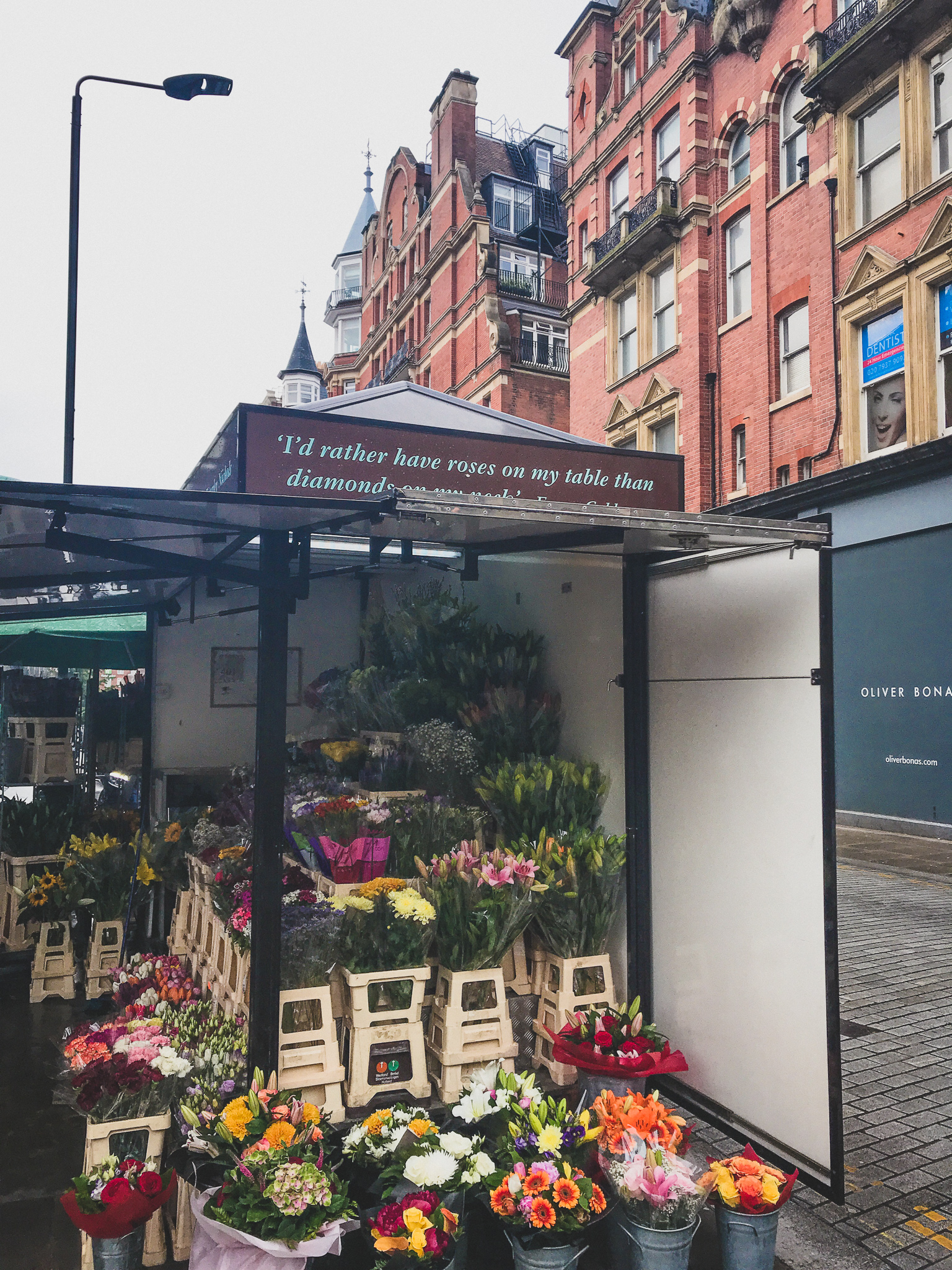 Flower stands in Holland park -