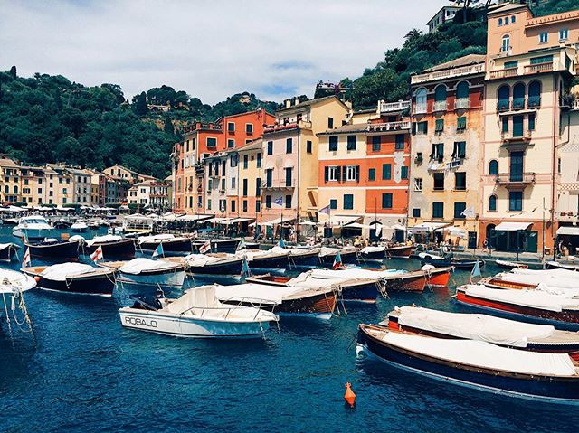 ✨4 days until ✈️ back to Europe ! Can't wait visit more #harbor towns like this one ☝️ #countdown #portofino #italy