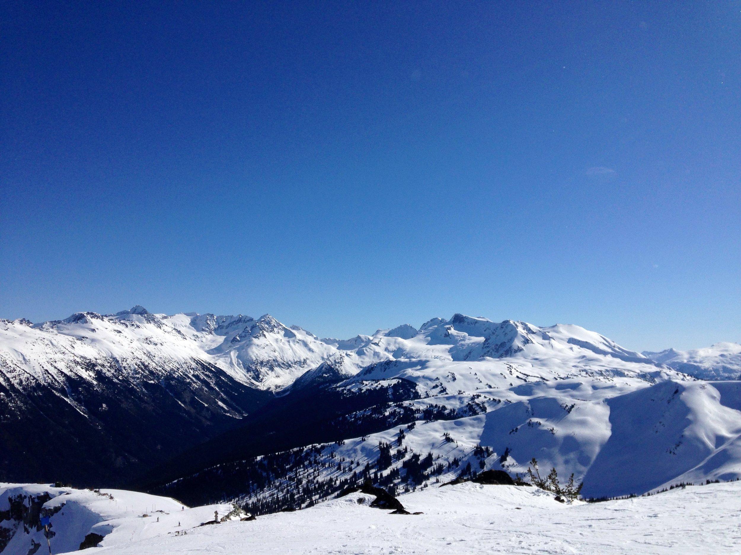 A bluebird day on the mountain