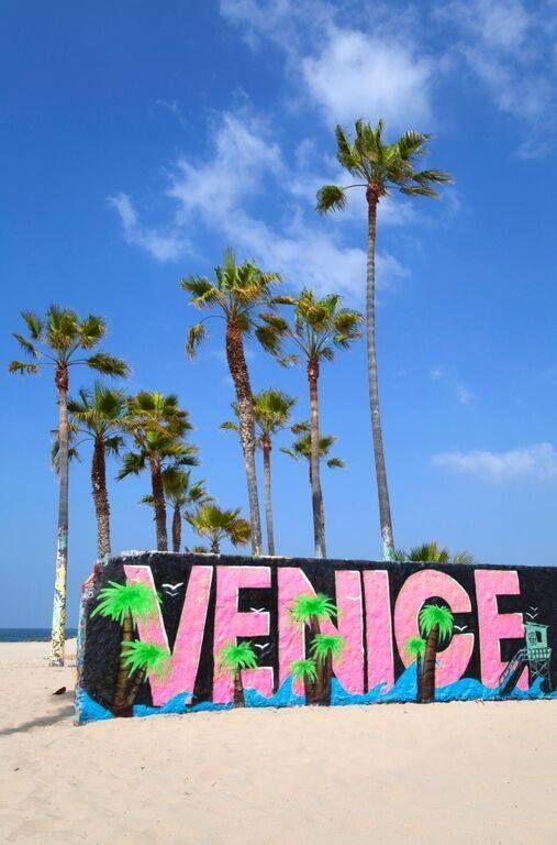 Venice is a vast canvas for artists of every kind. Leave your mark! #venicebeach #losangeles #cali #sand #palmtrees #graffiti #art #culture