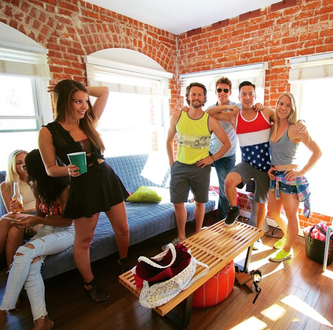 The party never stops in Venice. Look how much fun Instagram's @shittynachos had after Coachella 2015! #instagram #venice #beach #party #coachella2015