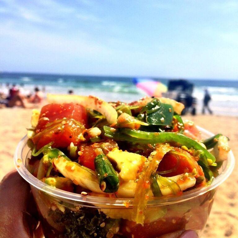When in Venice, check out Poke-Poke, the Surfer's Sashimi, for original Hawaiian style delicacies! #hawaiian #culture #venice #beach #socal #Losangeles #cali #boardwalk #foodie #surfers